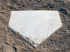 Home plate at Allmendinger Park