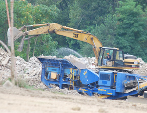 Demolition underway at the site of Ypsilanti's Water Street project