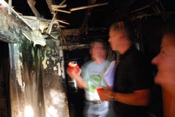 Inside the burnt-out house at 322 E. Kingsley
