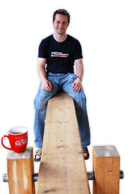 Gareth Morgan on a teeter totter.