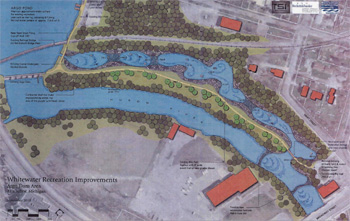 A rendering of the proposed Argo headrace reconstruction