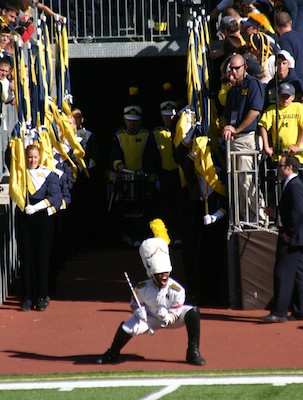 Michigan Marching Band drum major David Hines, Jr.