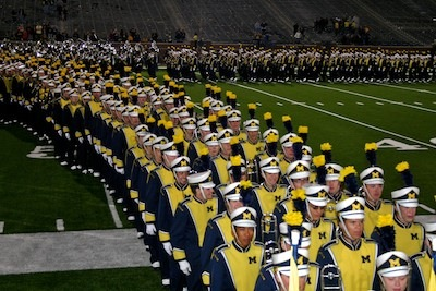 Michigan Marching Band exits Michigan Stadium