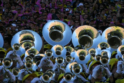 Michigan Marching Band horn section