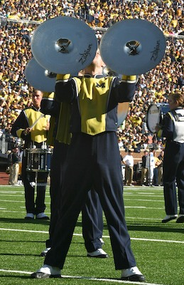 Josh Albee of the Michigan Marching Band