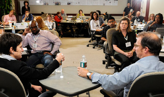 Participants at an Poynter Institute workshop