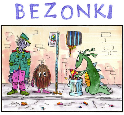 Bezonki cartoon panel