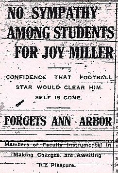 joy miller football scandal michigan