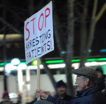 Chuck Ream protesting