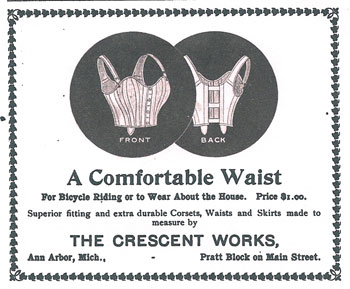 Ad for women's undergarments