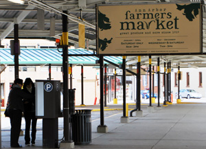 The Ann Arbor farmers market in Kerrytown