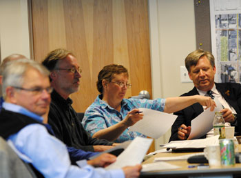 Bob Guenzel, John Mouat, Sandi Smith, Russ Collins, DDA special board meeting