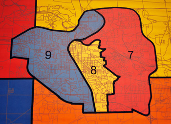Ann Arbor districts in the new Washtenaw County redistricting plan