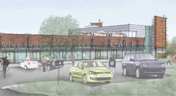 A rendering of Arbor Hills Crossing at Platt and Washtenaw