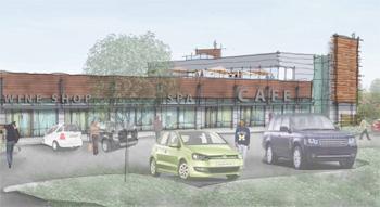 A rendering of Arbor Hills Crossing at Platt and Washtenaw