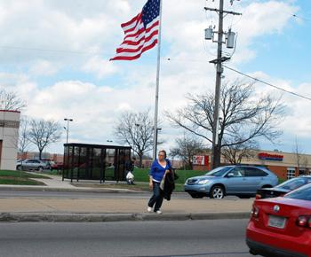 Pedestrian crossing Washtenaw Avenue