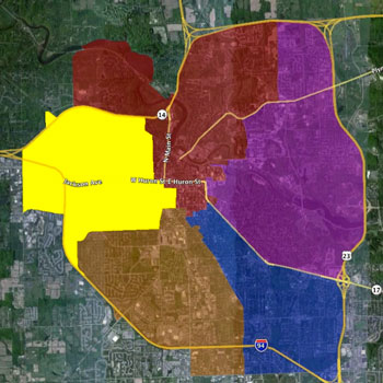 Ann Arbor Ward 5 map