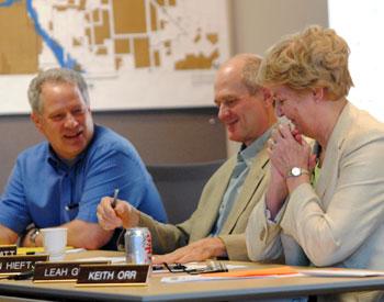 Roger Hewitt, John Hieftje, Leah Gunn