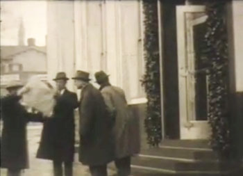 "Scene from the ""Back Page"" silent film"