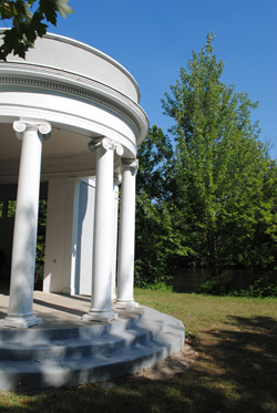 Greek Revival shelter at Island Park in Ann Arbor