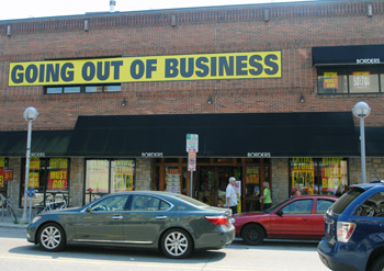 The No. 1 Borders bookstore at Liberty & Maynard in Ann Arbor.