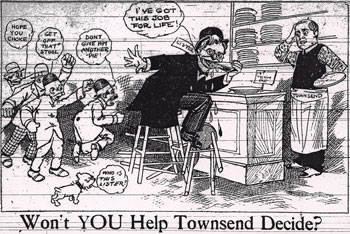 A home-grown editorial cartoon satirizing Lister in the November 20, 1907 Ypsilanti Daily Press.