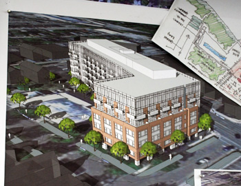 Architectural rendering of 618 S. Main project
