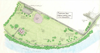 Sketch of proposed changes to Riverside Park