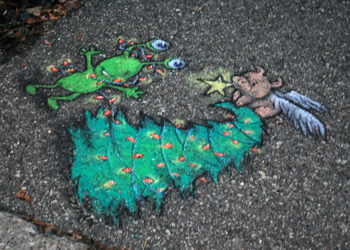 David Zinn sidewalk art