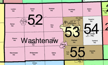 WashtenawCountyMichiganHouseDistricts