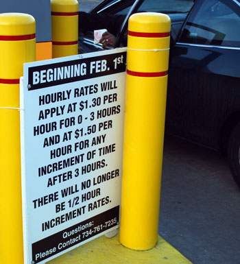 Parking Rate Signage Hourly
