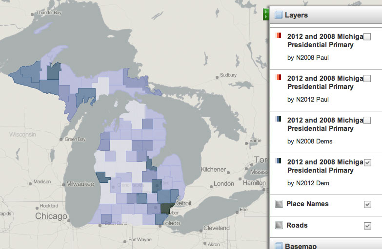 The Ann Arbor Chronicle  Michigan Presidential Primary Voter Maps