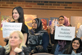 Student groups at UM regents meeting