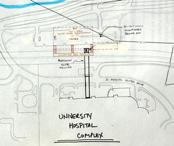 Early sketch of Fuller Road Transit station from 2009