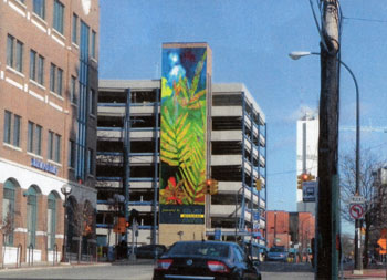 Mural Parking Structure Downtown Ann Arbor