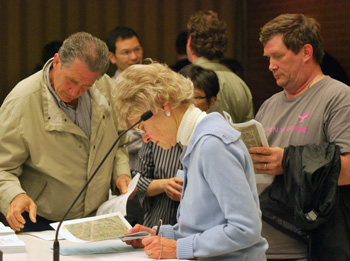 Residents who spoke during public commentary against the Maple Cove development