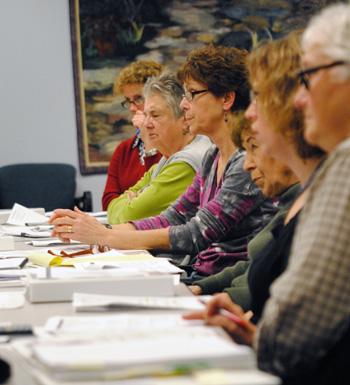 Members of the R4C/R2A advisory committee at a November 2011 meeting.