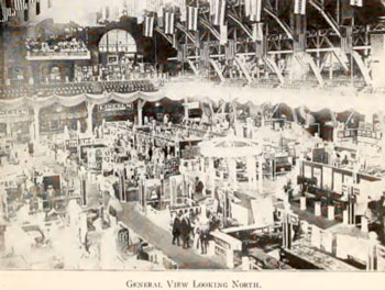 A view of the part of the main exhibition hall at the Lincoln Jubilee.