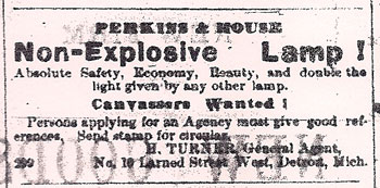 Non-explosive lamp, kerosene