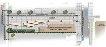 Blake Transit Center site plan