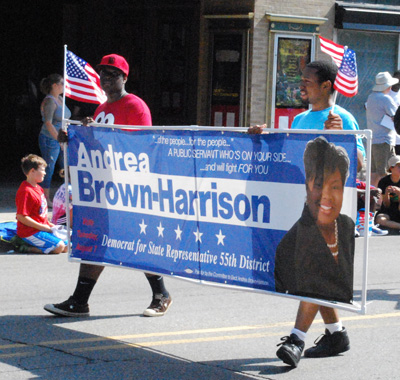 Supporters of Andrea Brown-Harrison