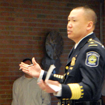 John Seto at the March 30 farewell for former chief Barnett Jones