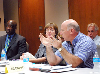 AATA board member Eli Cooper deliberates at the July 16, 2012 meeting.