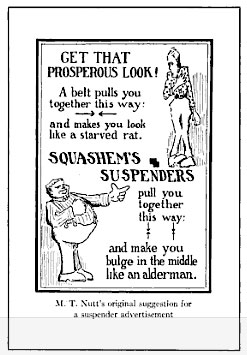 advertisement for suspenders