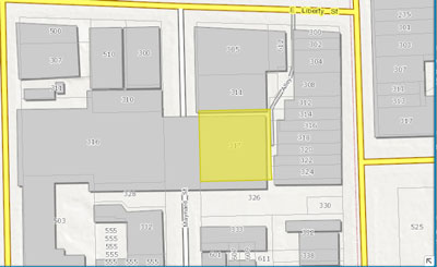317 Maynard is highlighted in yellow.