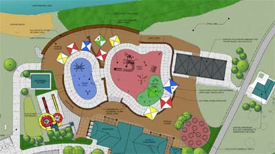 Schematic for Independence Lake spray-and-play project