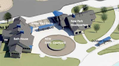 Schematic of proposed Rolling Hills entry