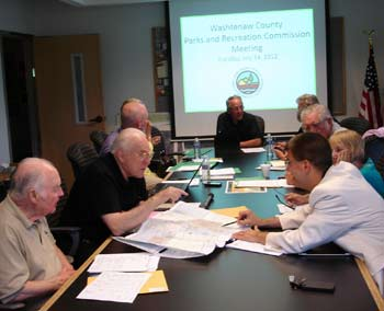 Washtenaw County parks & recreation commission meeting