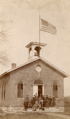 Though no picture exists in the Ypsilanti Archives of Fowler School, this look at Delhi School may give some idea of the appearance of Mamie's school. The flag appears to be the 45-star flag used from 1896-1908.