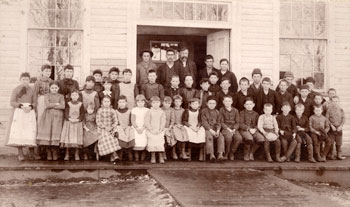 This group of 19th-century schoolchildren from Morgan School may give a general idea of Mamie's Fowler School class size.